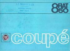 Fiat 850 Coupe 843cc 1966-68 Original UK Sales Brochure Pub. No. 2257
