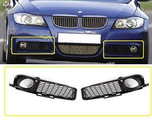 NEW BMW 3-Series E90 E91 M SPORT Front Bumper Grille Fog Light Trim Left + Right