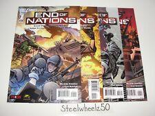 End Of Nations #1-4 Comic Lot DC 2010 2 3 COMPLETE Online Game Sanchez Guichet