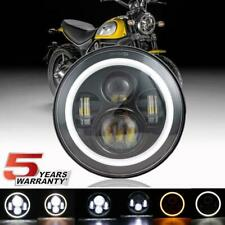 "DOT 7"" CREE LED Headlight Halo For Indian Chief Chieftain Roadmaster Springfield"