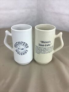 Michter's Whiskey Original Sour Mash Amish Coffee Mugs Lot of 2