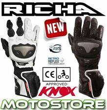 Fingers Leather Motorcycle Gloves with Hard Armour