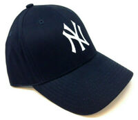 NAVY BLUE MLB NEW YORK YANKEES NY LOGO ADJUSTABLE CURVED BILL HAT CAP RETRO NWT
