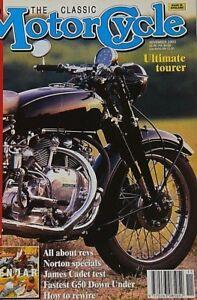 """Classic Motorcycle Nov 1993   VINCENT, JAMES """"Cadet"""", REX-ACME TT Model , NORTON"""