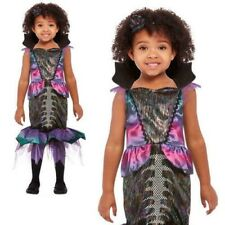 Toddlers Dark Mermaid Costume Childs Halloween Spooky Zombie Fancy Dress Outfit