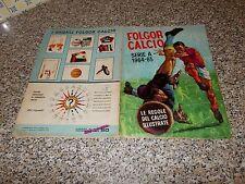 ALBUM CALCIATORI FOLGOR CALCIO 1964 1965 LA FOLGORE ORIG.COMPLETO(-17 FIG) BUONO