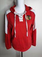 Women's Chicago Blackhawks Reebok Hoodie  Size Medium NHL Jersey Hooded Red