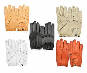 Driving Gloves Nappa Real Sheep Soft Leather Men's Dress Chauffeur Style Retro