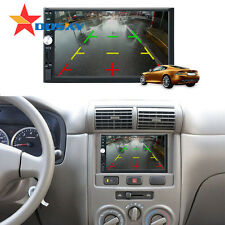 """7"""" Double 2DIN Car MP3 Player Bluetooth Touch Screen Stereo Radio HD + Camera"""