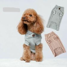 Knitted Cable Dog Sweater Dachshund Pull Clothes Christmas Winter Small Large