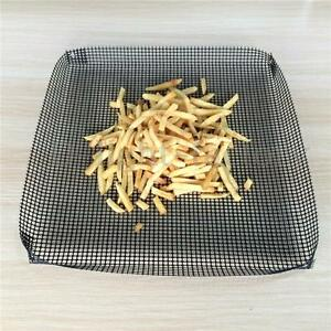 Reusable Non-stick Chip Mesh Oven Baking Tray Basket Pan Grilling Sheet