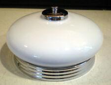 1930s Moe Bridges Brothers Chrome Milk Glass Art Deco Ceiling Light Fixture Lamp