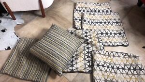 "6 Sofa Throw Pillow Covers New 24""x23.5"""