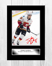 More details for johnny gaudreau calgary flames nhl signed a4 poster choice of frame