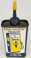 Vintage Gas Pump Graphic Sunoco Household Handy Oiler Oil Can Tin Philadelphia