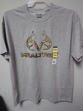 Realtree Men's Graphic Gray Short Sleeve T-Shirt Size XL