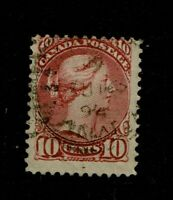 Canada SC# 45, Used, very shallow, minor ctr hinge thin - S10801