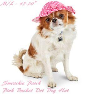 Smoochie Pooch  Pink  Dog Summer Hat w/ Bow M - L