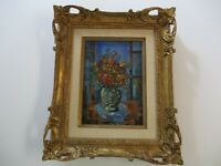 VINTAGE TONY AGOSTINI PAINTING SCHOOL OF PARIS FLORAL MODERNISM IMPRESSIONISM
