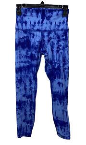 Preowned Lululemon Blue Tie Dye Leggings, Size 6