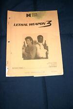 Data East Lethal Weapon 3 pinball machine manual (#Man_110)