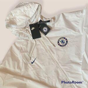 Nike Chelsea Football Club Full Zip Hooded Jacket 919580 100 Mens Large L