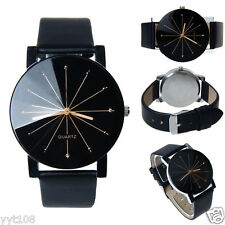 Luxury Women Convex Surface Quartz Stainless Steel Dial Leather Wrist Watch New
