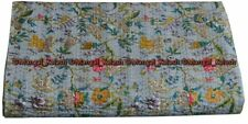 Indien handmade cotton paradise kantha quilt king size bedding bedspread blanket