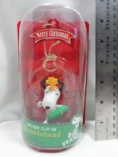2013 CVS Holiday Clip-On Snoopy Bobblehead Red