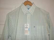 Men's S Coast Long Slv Button Frnt Shirt Green Plaid Hillsborough Pawleys Island