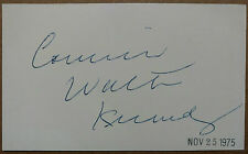 J. Walter Kennedy signed autographed index - 2nd NBA Commissioner (JSA COA auto)