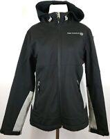 FREE COUNTRY women's Black Softshell Full Zip Hood Jacket Size Medium Pre Owned