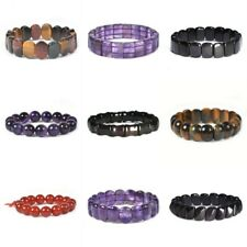 """10-25mm Fashion gemstone various shape beads stretchable bracelet 6""""-7.5"""""""