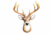 Faux Taxidermy Deer Head - Large 14 Point Buck Mount - Stag Head Wall Mount