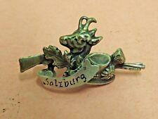 Salzburg Austria Hunting Pin Deer Rifle Lapel Pin Vintage