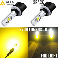 Alla ETI-LED 880 Golden Yellow Cornering|Fog Light Bulb,3000K Improve Visibility