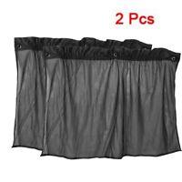 2 x Noir rideau pare-soleil pour la fenetre de voiture Design de ventouse 4 O4M6