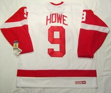GORDIE HOWE size XL Detroit Red Wings CCM 550 VINTAGE series Hockey Jersey White