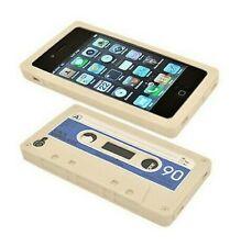 Silicone Cover IPHONE 4 4S 4G Design Cassette K7 Beige
