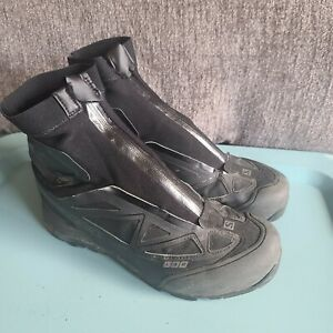 Salomon Men's S-Lab X-Alp GTX Carbon Boots Size 9 Black Zip Gore-tex Contragrip