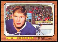 1966 67 TOPPS HOCKEY #86 VIC VICTOR HADFIELD EX-NM N Y RANGERS