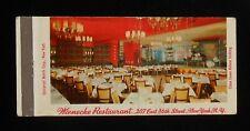 1950s Full Length Wienecke Restaurant 207 East 86th Street NYC NY Matchbook