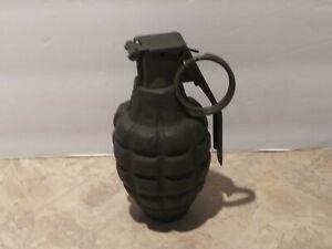 Vintage Pineapple Grenade RFX Cast Iron Metal Military Fake Real Look & Feel