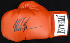 MIKE TYSON AUTOGRAPHED RED EVERLAST BOXING GLOVE LH IN BLACK TRISTAR 128296