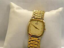 SEIKO Goldtone Square Watch Bracelet Band  5P30-5G60