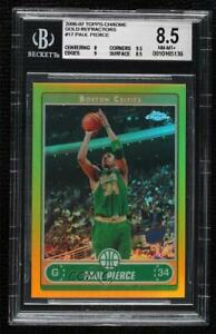 2006-07 Topps Chrome Gold Refractor /25 Paul Pierce #17 BGS 8.5