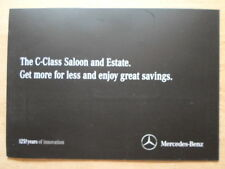 MERCEDES BENZ CLASSE C 2011 ORIG UK inchiostri SALES BROCHURE Mailer
