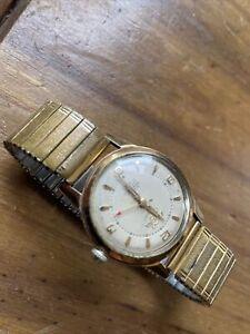 vintage mens Swiss Hand Wind watch Enicar Ultrasonic spares or repair