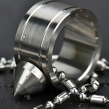 Silver EDC Self Defence 304 Stainless Steel Ring Finger Defense Ring Tool EX