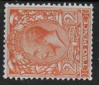 SG 421b.  2d.Orange Watermark Sideways.  Fine Lightly MM.  Cat.£100.  Ref:0119.